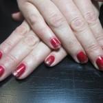 Дизайн ногтей «Искры на красном»