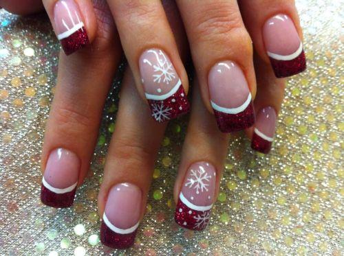 """Дизайн ногтей """"Новогодние снежинки"""""""