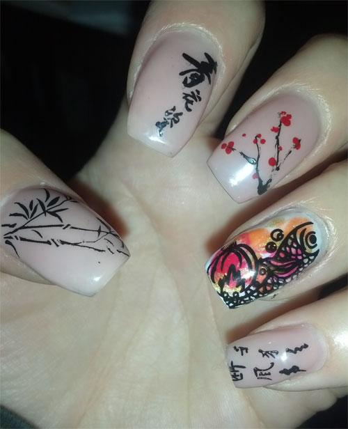 """Дизайн ногтей """"Китайский Новый год"""""""