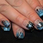 Дизайн ногтей «Голубая бабочка»