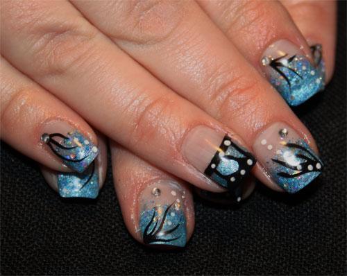 """Дизайн ногтей """"Голубая бабочка"""""""