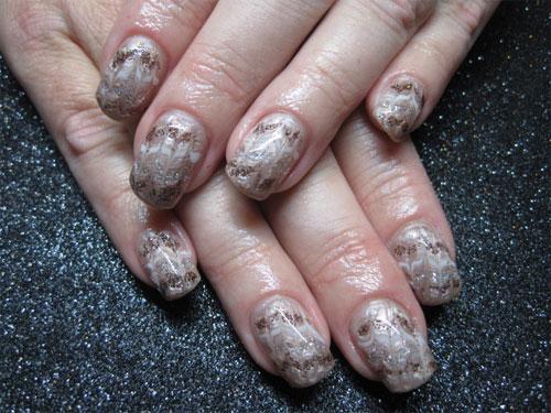 """Дизайн ногтей """"Блестящие волны"""""""