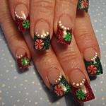 Дизайн ногтей «Счастливого Рождества!»