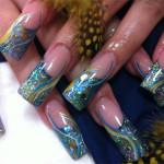 Дизайн ногтей «Павлиний хвост»