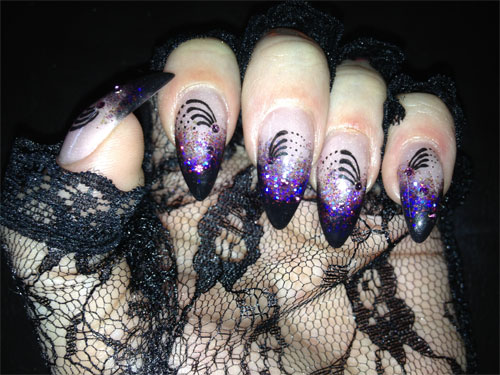 """Дизайн ногтей """"Звездопад"""""""