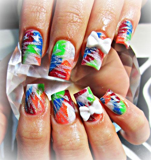 """Дизайн ногтей """"Акриловая радуга"""""""