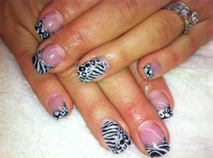 Черно-белый дизайн «Зебра и леопард»