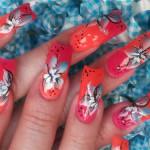 Дизайн ногтей с гибискусами
