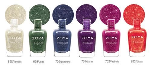 Лаки Zoya PixieDust для осени 2013