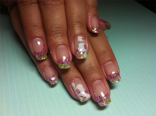 Дизайн ногтей в гавайском стиле
