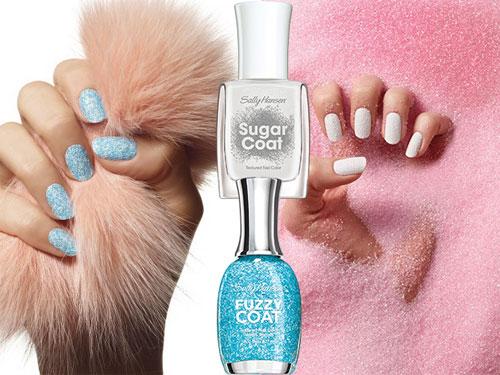 Fuzzy и Sugar - модные текстурированные покрытия от Sally Hansen