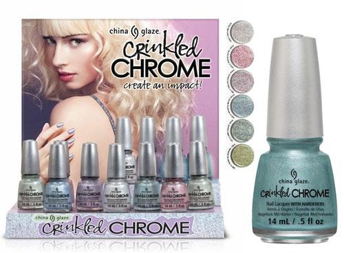 Лак Crinkled Chrome от China Glaze - блеск и мерцание зимы