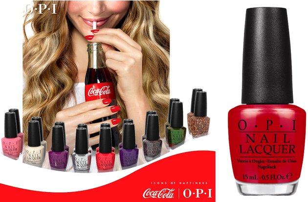 Лак OPI Coca Cola - летняя коллекция 2014 года